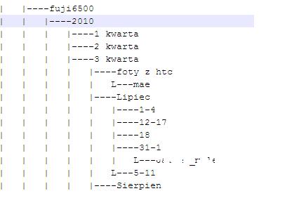lista podkatalogów w notepad++